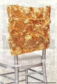 Gold Chair Sashes Aliexpress Com Buy Gold Satin Rosette Chiavari Chair Hoods