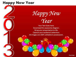 happy new year card ppt cards and dices happy new year business plan business