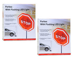 2 Car Garage Door Size by Amazon Com Parkez Flashing Led Light Parking Stop Sign For Garage