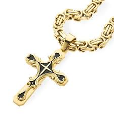 real gold cross necklace images Gold tribal cross pendant spicyice jpg