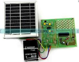 solar powered led light with auto intensity