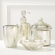 Cracked Glass Bathroom Accessories A Simple Design With A Vintage Inspired Feel The Jessica Simpson
