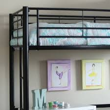 Build A Bear Bunk Bed With Desk by Walker Edison Twin Metal Loft Bed Multiple Colors Walmart Com