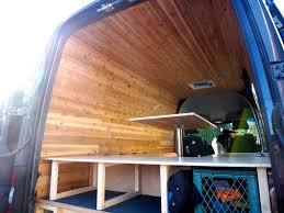 cedar paneling for van interior sprinter camper diy camper and