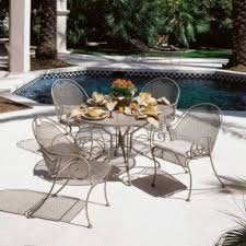 Black Iron Outdoor Furniture by Iron Patio Tables Foter