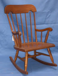 Blue Wicker Rocking Chair Childrens Rockers Baby Rocking Chair Kids Wood Vintage Child