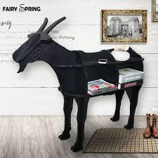 Goat Home Decor European Creative Sheep Goat Side Table Nordic Style Log Home