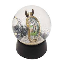 clock snow globe