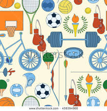 sports wrapping paper seamless sport 2016 pattern can stock vector 454626079