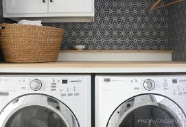 Laundry Room Storage Between Washer And Dryer by Diy Built In Washer Dryer Crazy Wonderful