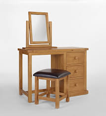 Oak Vanity Table Dressing Table With Mirror And Stool Cheap Design Ideas Interior
