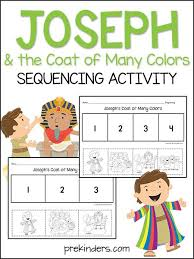 joseph the coat sequencing activity sequencing activities