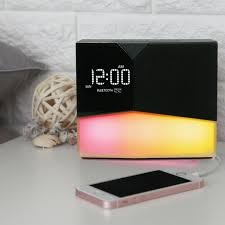 best light up alarm clock beddi glow intelligent alarm clock with wake up light light
