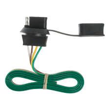 4 way flat light connector curt 4 way flat license plate light plug connector socket 57405