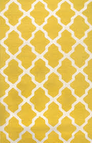 Yellow Area Rug 5x7 Rugsville Moroccan Trellis 10596 Yellow Ivory Wool Rug Rugsville Com