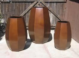 Large Brown Floor Vase Planters Urns And Vases Gillberg Design Inc