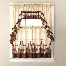 Coffee Themed Curtains Coffee Theme Decor Brilliant Kitchen Curtains Wine Designs With
