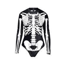womens skeleton jumpsuit skeleton bodysuit clothing shoes accessories ebay