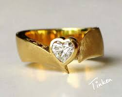 engagement ring gold unique diamond engagement ring jewelry 14k yellow gold