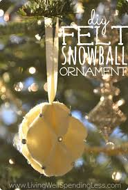 diy felt snowball ornament great tutorial for beautiful