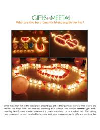 best gift for her best romantic birthday gifts for her