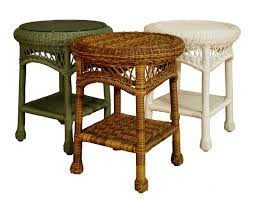 white wicker side table awesome wicker end tables cole papers design wicker end tables