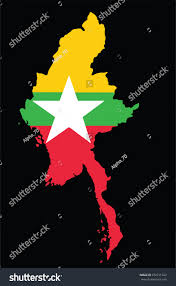 Union Of The Flag Myanmar Flag Map Myanmar Officially Republic Union Stock