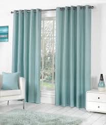 Pastel Coloured Curtains Sorbonne Plain Dyed Heavy Cotton Eyelet Ring Top Lined Curtains