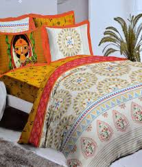 Bed Quilts Online India Bombay Dyeing Celebration India Yellow U0026 White Double Bed Sheet