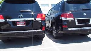 lexus and toyota are same 2013 toyota landcruiser vs 2013 lexus lx 570 vocal video with
