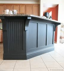 kitchen island makeover ideas kitchen island makeover with corbels part two remodelaholic