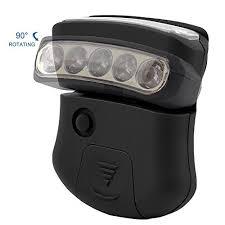 clip on visor light thorfire cap hat light 5 led headl rotatable ball cap visor light