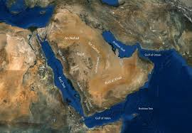 rub al khali map geography of the arabian peninsula arabian rock heritage
