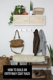 1524 best diy coat rack stand images on pinterest home coat learn how to make an inviting entryway with this simple diy coat rack