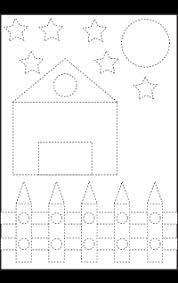 picture tracing u2013 shapes u2013 circle star triangle square and