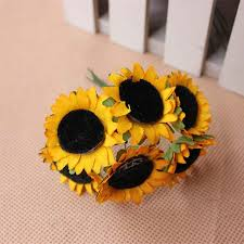 silk sunflowers 3cm artificial sunflowers flower bouquets silk sunflowers