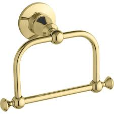 Antique Brass Bathroom Accessories by Kohler Faucet K 208 Pb Antique Vibrant Polished Brass Towel Rings