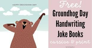 groundhog handwriting freebie happy teacher happy kids