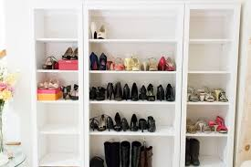 billy bookcase shoe storage shoe storage display with the ikea hemnes geeky posh