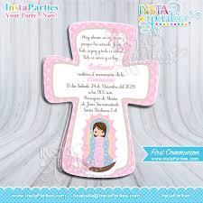 communion invitations boy communion invitations baptism boy invitation cross brown