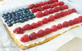 low carb patriotic dessert pizza grain free
