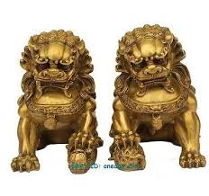 gold lion statue large brass small large pair bronze lion foo dog statue