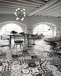 indoor tile bathroom kitchen floor cementine black u0026white