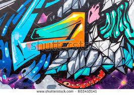 Urban Art Style - beautiful street art graffiti abstract color stock photo 402624178