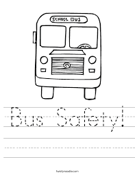 bus safety worksheet twisty noodle