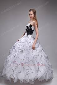 black and white quinceanera dresses orangza skirt winter la quinceanera dress with black details
