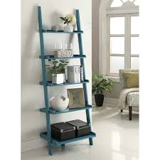 Leaning Ladder Bookcases by Convenience Concepts French Country Bookshelf Ladder White