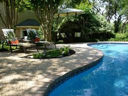 ideas green trees with backyard pool ideas plus stone pavers for