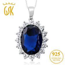 blue sapphire necklace pendant images Gemstoneking 13 00 ct oval blue sapphire 925 sterling silver jpg