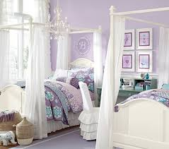 girl canopy bedroom sets madeline canopy bed pottery barn kids